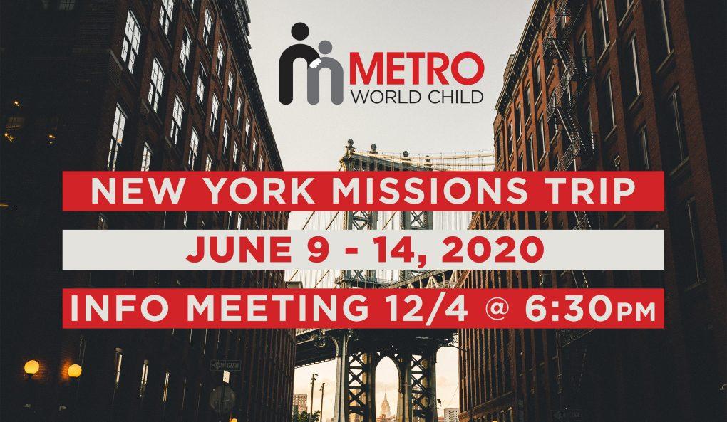 New York Missions Trip Info Meeting